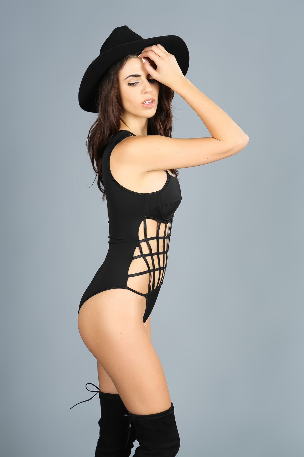 inCAGED Black Bodysuit