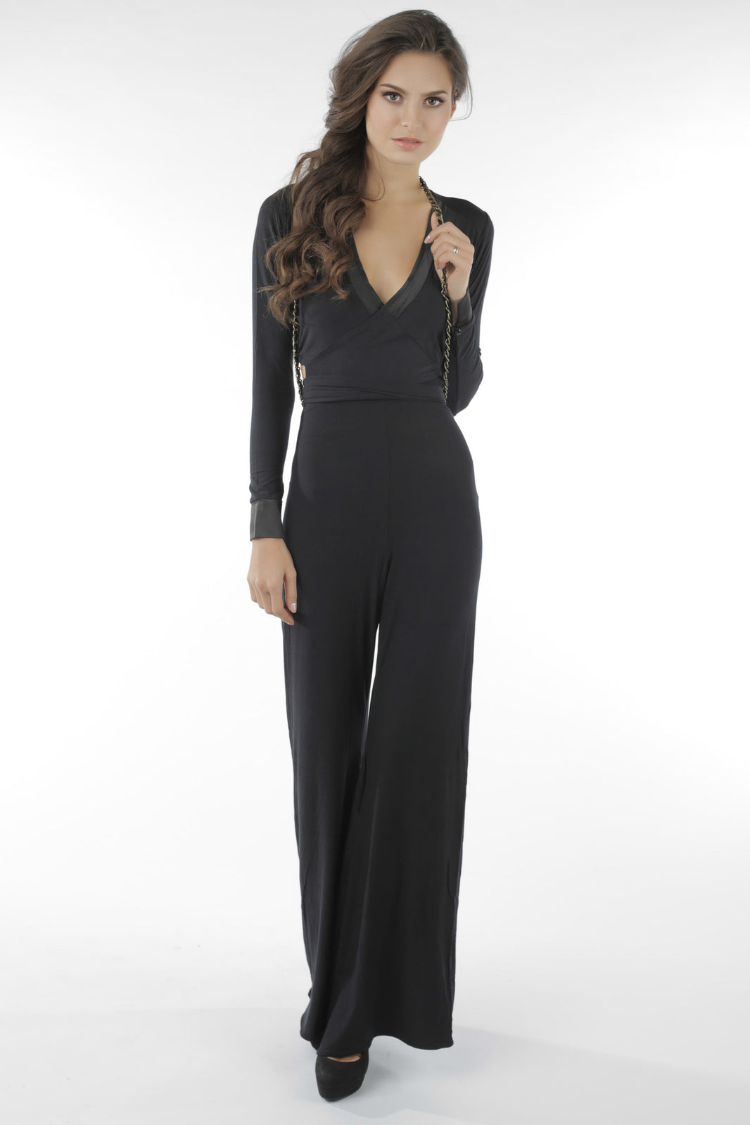 Castles Couture Power Play Jumpsuit Black