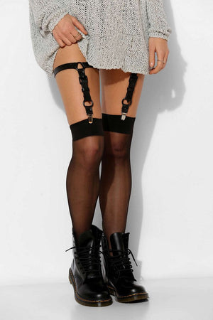 Leah Leather Reversible Garter Set