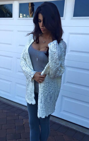 Day Dreamer White Cardigan