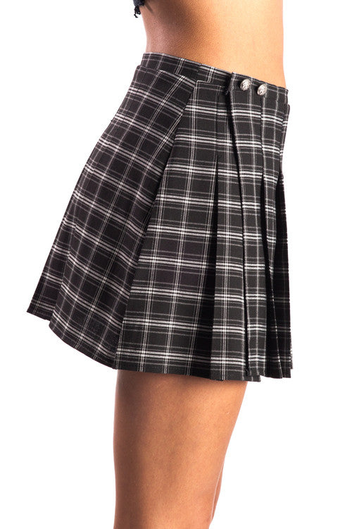 Castles Couture Pleated Back to School Skirt