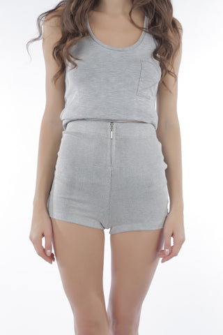 Cosabella Bari Zip Shorts Gray