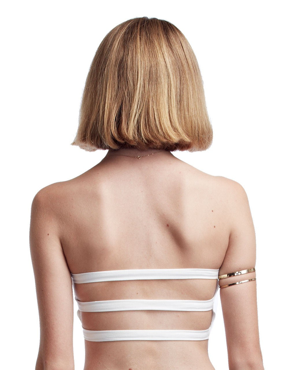 Groceries Apparel White 3 Strap Bralette