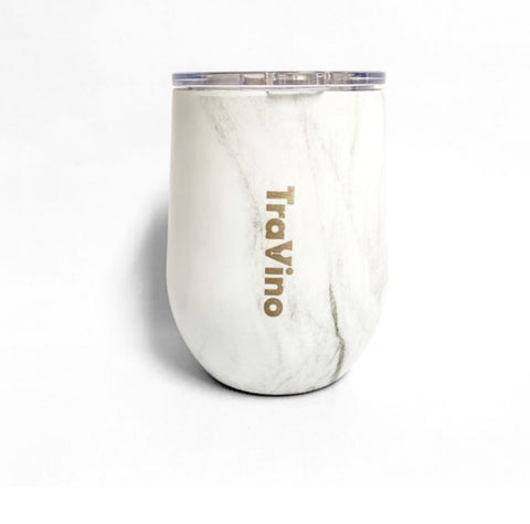 Travino Stemless insulated tumbler WHITE MARBLE