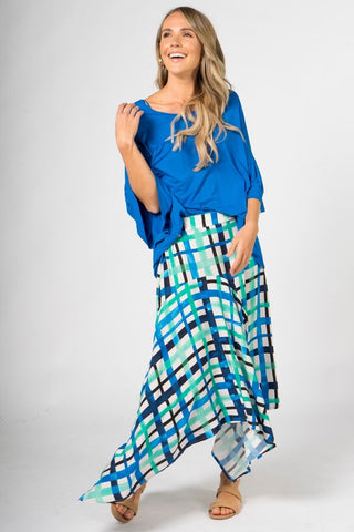 PQ Kite skirt in ocean check