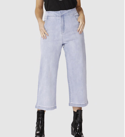SASS Highwaist crop jean Indigo