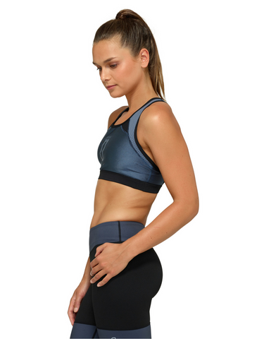 Jaggad Kishi Cross-Back Crop Top