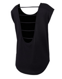 Running Bare - Strappy Back Workout Tee - Running Bare - Strappy Back Workout Tee