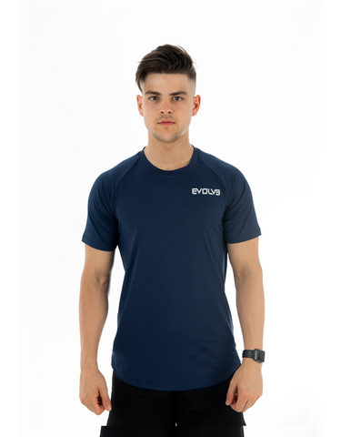 Evolve- Legacy Tee Navy Blue
