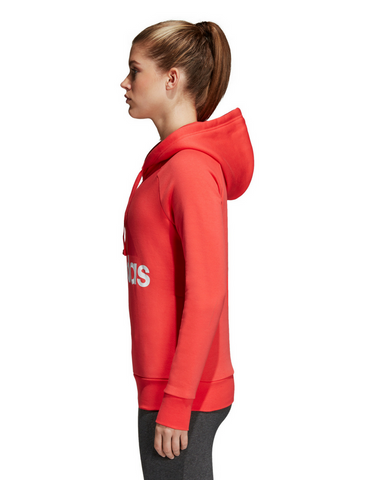 Adidas Essential Linear Fleece Hoodie - Real Coral
