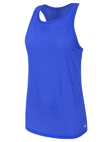 Running Bare - Baseline Workout Tank Blue