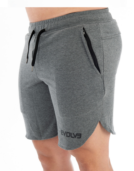 Evolve- Relaxfit Split shorts - Grey Marle - Active Style