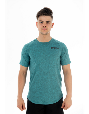 Evolve- Performance Tee Turquoise