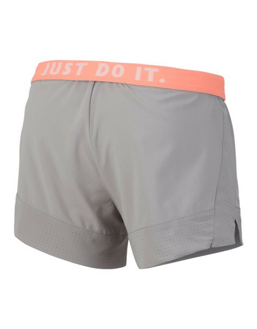 Nike Flex 2-in-1 Training Shorts - Grey/Crimson Pulse