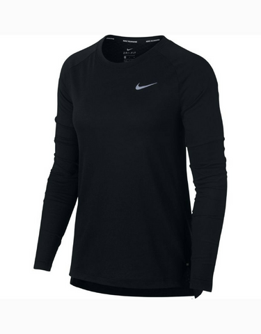 Nike Tailwind Long Sleeve Running Top - Black - Active Style