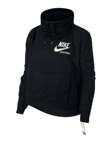 Nike Sportswear Jacket - Black (White Drawstrings) - Active Style