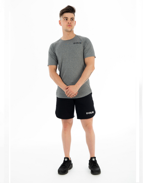 Evolve- Performance Tee Grey Marle - Active Style