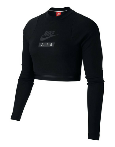 Nike Sportswear Long Sleeve Crop Top - Black