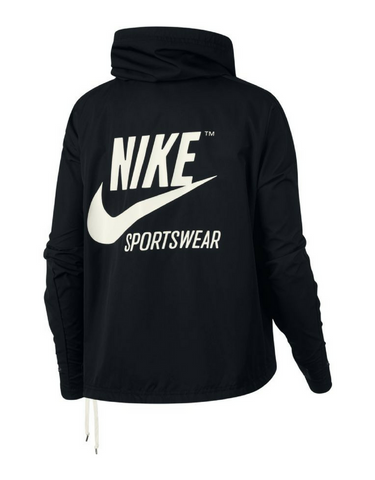 Nike Sportswear Jacket - Black (White Drawstrings)