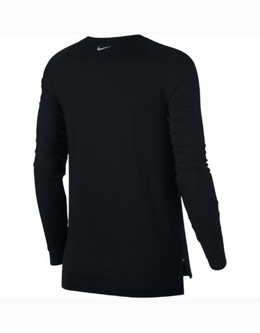 Nike Tailwind Long Sleeve Running Top - Black