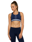 Jaggad Hannah Cross-Back Crop Top - Navy - Jaggad Hannah Cross-Back Crop Top - Navy