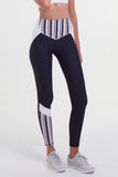Arcadia Movement - Vortex Legging Black/Navy Stripe - Arcadia Movement - Vortex Legging Black/Navy Stripe