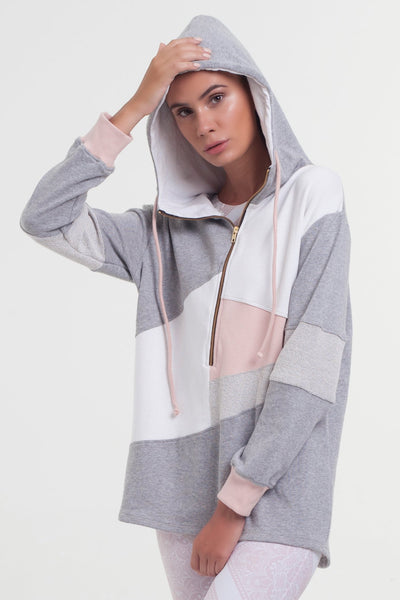 Arcadia Movement - Spark Hoodie Blush/Grey - Active Style