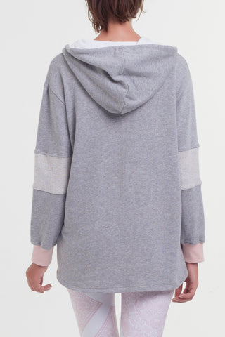 Arcadia Movement - Spark Hoodie Blush/Grey