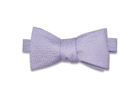 Periwinkle Purple Dots Silk Bow Tie (self-tie)