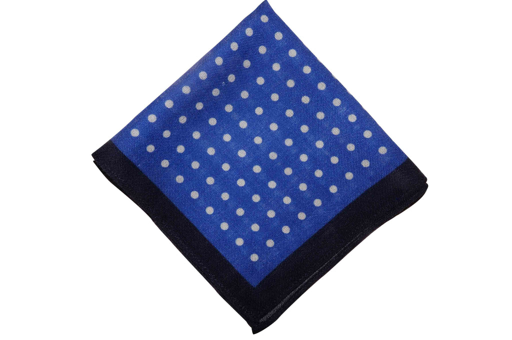 Acrington Dotted Wool Pocket Square