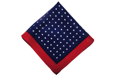 Acton Dotted Wool Pocket Square