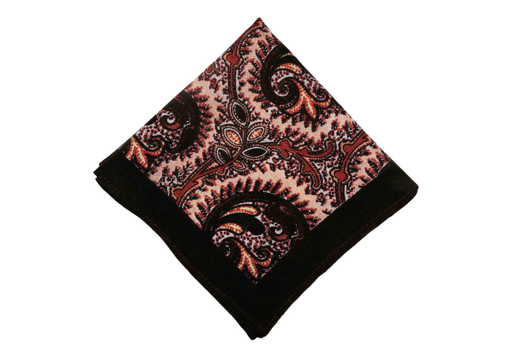 Alderburgh Brown Wool Pocket Square