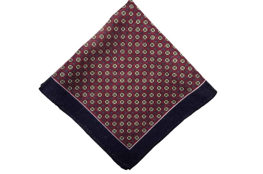 Aldenberry Navy Wool Pocket Square
