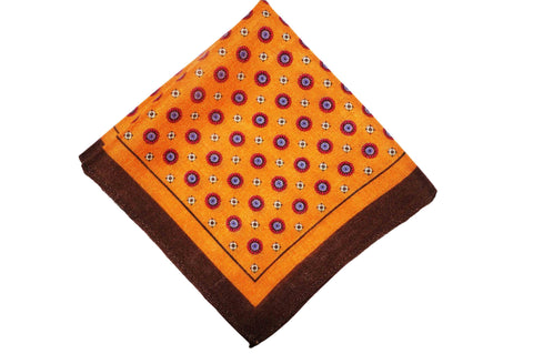Aldershot Orange Wool Pocket Square