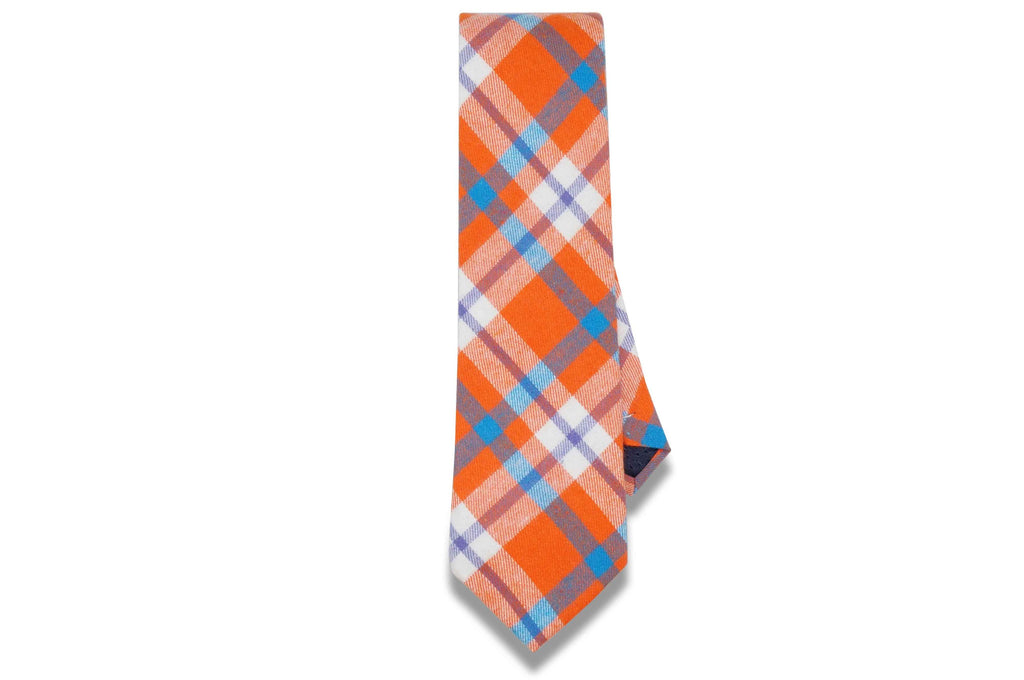 Alfie Plaid Orange Cotton Tie