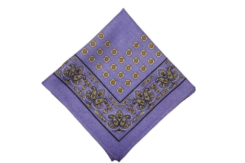 Alnwick Purple Wool Pocket Square