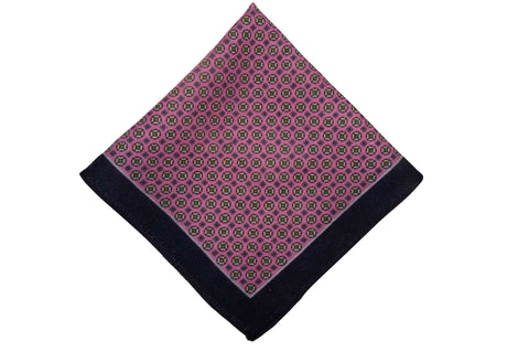 Alston Pink Wool Pocket Square