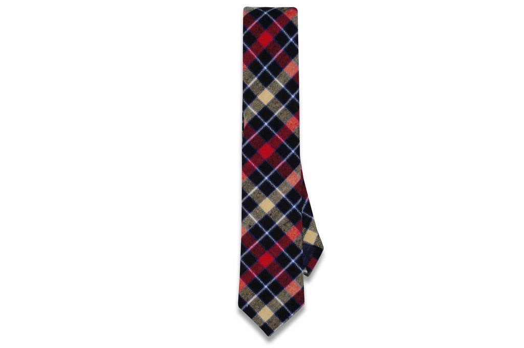 Alvin Red Cotton Skinny Tie