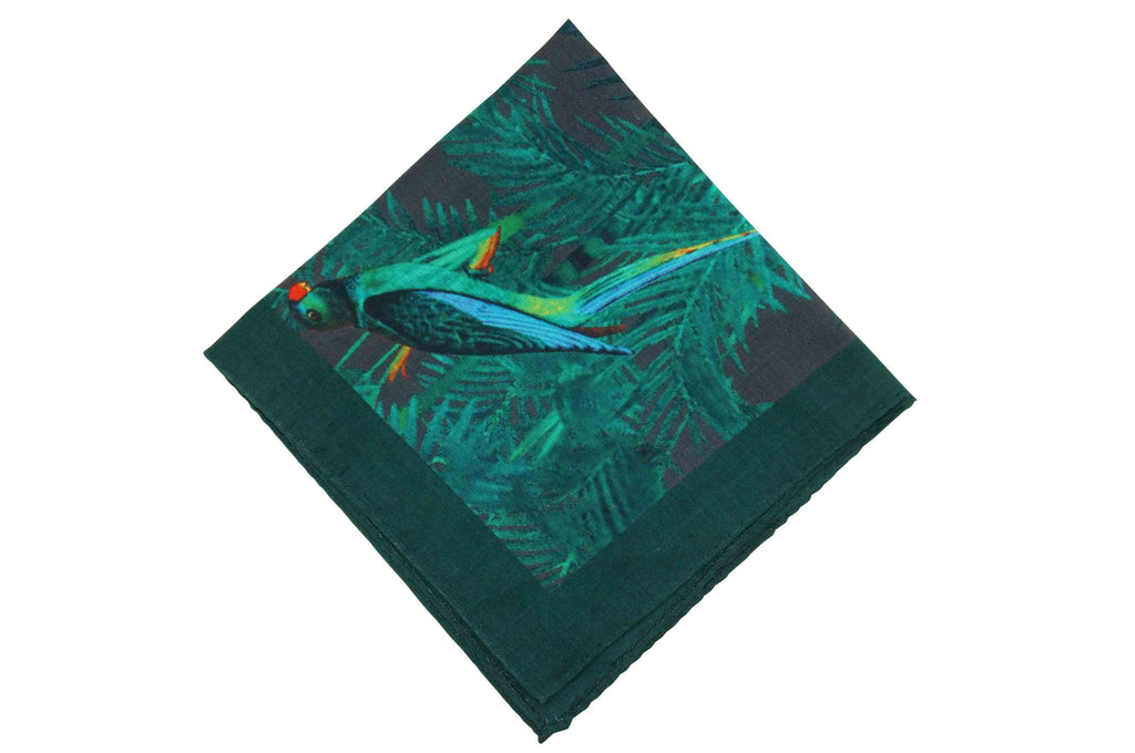 Amazon Green Linen Pocket Square