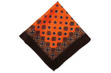 Amhersam Orange Wool Pocket Square