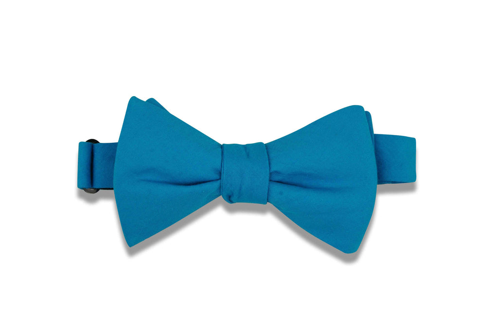 Aqua Blue Cotton Bow Tie (self-tie)