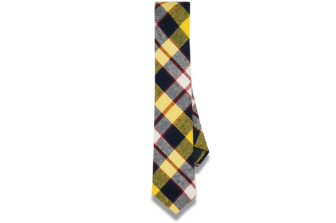 Archie Plaid Cotton Skinny Tie