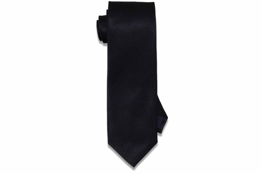 Aristocrat Black Silk Tie