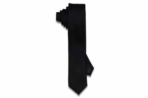 Aristocrats Black Silk Skinny Tie