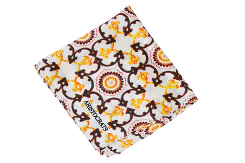 Ash Rings Silk Pocket Square