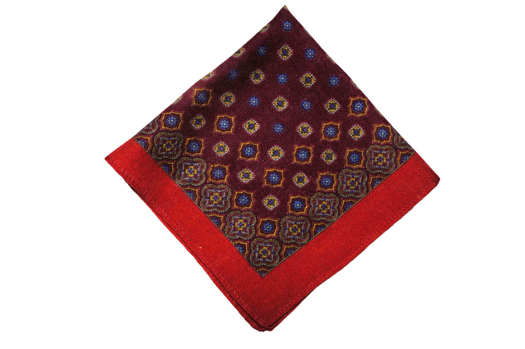 Axbridge Red Wool Pocket Square