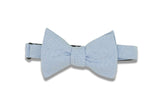 Baby Blue Chambray Cotton Bow Tie (self-tie)
