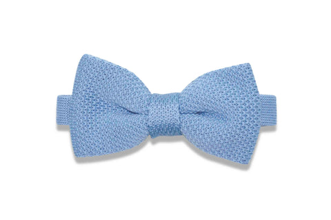 Baby Boy Blue Knitted Bow Tie (pre-tied)