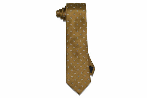 Baby Gold Paisley Silk Tie