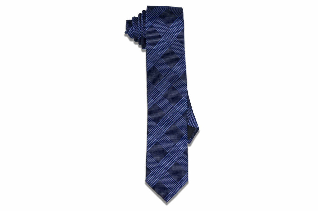 Band Blue Stripes Silk Skinny Tie